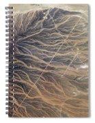 Water Imprints In Desert, Oman Spiral Notebook