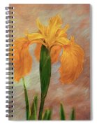 Water Iris - Textured Spiral Notebook