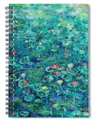 Water Lilies Lily Pad Lotus Water Lily Paintings Spiral Notebook