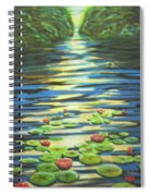 Water Lillies At Dusk Spiral Notebook