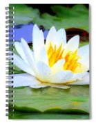 Water Lily - Digital Painting Spiral Notebook