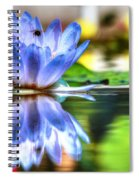 Water Lily And Bee Spiral Notebook