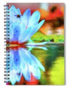 Water Lily And Bee Pastel Spiral Notebook