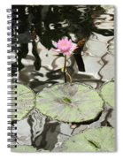Water Lily Canvas Spiral Notebook