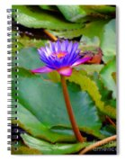 Water Lily In Tahiti Spiral Notebook