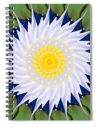 Water Lily Kaleidoscope Spiral Notebook