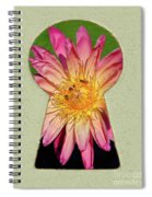 Water Lily Keyhole Spiral Notebook