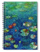 Water Lily Lotus Lily Pads Paintings Spiral Notebook