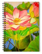 Water Lily Lotus Spiral Notebook