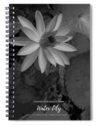 Water Lily Monochrome Spiral Notebook