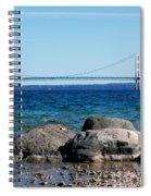Water Line Sky Line Spiral Notebook