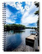 Water Mirrors Sky Spiral Notebook