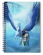 Water Pegasus Spiral Notebook