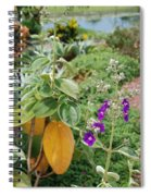 Water Plants And Flower Spiral Notebook