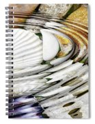 Water Ripples Above Sea Shells Spiral Notebook