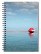 Water Slide Seascape Summer Vacation Scene Spiral Notebook