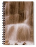 Water Softly Falling Spiral Notebook