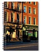 Water Street At Dusk Spiral Notebook