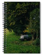 Water Tank In A Pasture Spiral Notebook