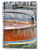 Water Taxi Italy Spiral Notebook