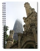 Water Tower And Hancock Spiral Notebook