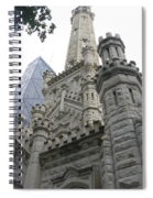 Water Tower And Sears Tower Spiral Notebook