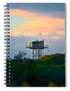 Water Tower In Orange Sunset Spiral Notebook