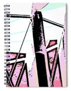 Water Tower In Pink Abstract Spiral Notebook