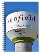 Water Tower - Sunfield Texas  Spiral Notebook