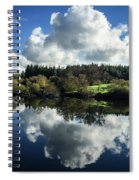 Water Vapour On A Mirror Spiral Notebook