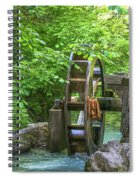 Water Wheel In The Woods Spiral Notebook