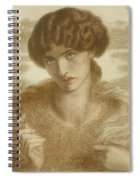 Water Willow - Study Of Female Head And Shoulders Spiral Notebook