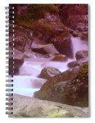 Water Winding Through Rocks Spiral Notebook
