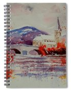 Watercolor Anseremme Spiral Notebook