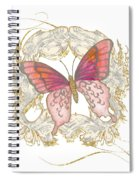 Watercolor Butterfly With Vintage Swirl Scroll Flourishes Spiral Notebook