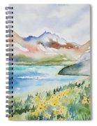 Watercolor - Colorado Alpine Landscape Spiral Notebook