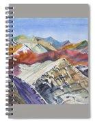 Watercolor - Colorado Elk Range View Spiral Notebook