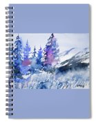 Watercolor - Colorado Winter Wonderland Spiral Notebook