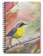 Watercolor - Common Yellowthroat Spiral Notebook