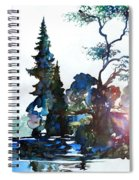Watercolor Forest And Pond Spiral Notebook