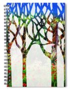 Watercolor Forest Silhouette Summer Spiral Notebook