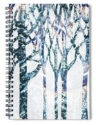 Watercolor Forest Silhouette Winter Spiral Notebook