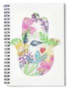 Watercolor Garden Hamsa- Art By Linda Woods Spiral Notebook