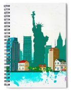 Watercolor Illustration Of New York Spiral Notebook