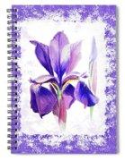 Watercolor Iris Painting Spiral Notebook