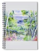 Watercolor - Lake Superior Impression Spiral Notebook