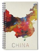 Watercolor Map Of China Spiral Notebook