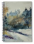 Watercolor Medieval Castle Of Veves  Spiral Notebook
