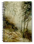 Watercolor Misty Atmosphere  Spiral Notebook