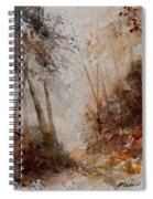 Watercolor Misty Path Spiral Notebook